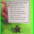 Runaway Gingerbread Man Christmas Girl Scout SWAPS Craft Kit from Swaps4Less