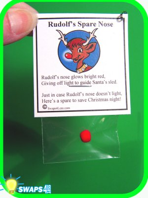 Rudolf's Spare Nose CHRISTMAS SWAP Kit for Girl Scouts from Swaps4Less