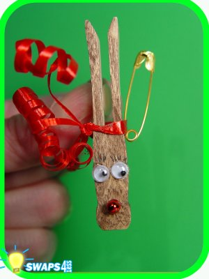 Rudolf the Red Nosed Reindeer CHRISTMAS Girl Scout SWAPS Craft Kit from Swaps4Less