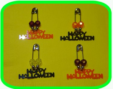 "HAPPY HALLOWEEN! Coil-less Charm Pin ""Girl Scout"" ""Boy Scout"" SWAPS Craft Kit by Swaps4Less"