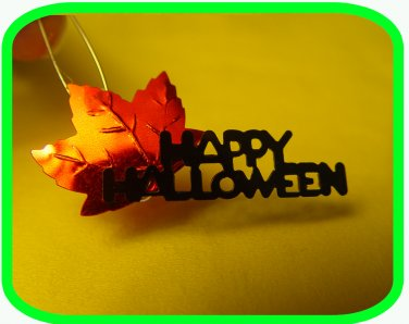 "Happy Halloween Leaf ""Girl Scout"" or ""Boy Scout"" SWAPS Craft Kit by Swaps4Less.com"