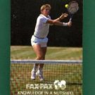 TENNIS ! FAX-PAX ! 1986 ! HARD TO FIND! COMPLETE ! NM