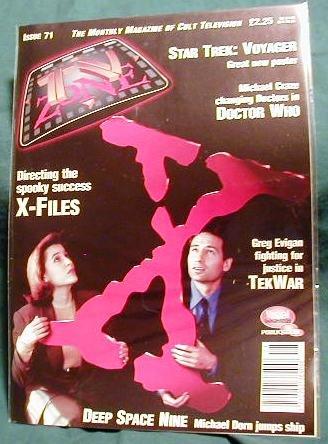X-FILES ! TV ZONE #71 BRITISH MAGAZINE - OCTOBER, 1995