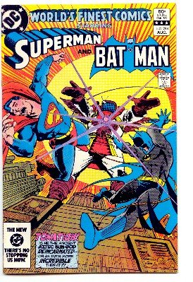 WORLD'S FINEST COMICS #294 SUPERMAN AND BATMAN ! FN/VF CONDITION