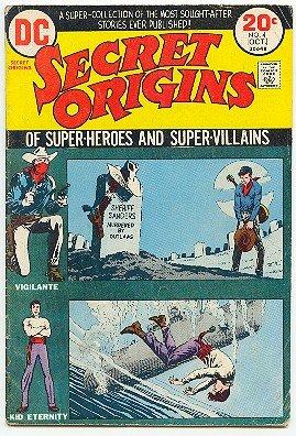 SECRET ORIGINS #4! DC COMICS - VIGILANTE - KID ETERNITY VG/FN CONDITION