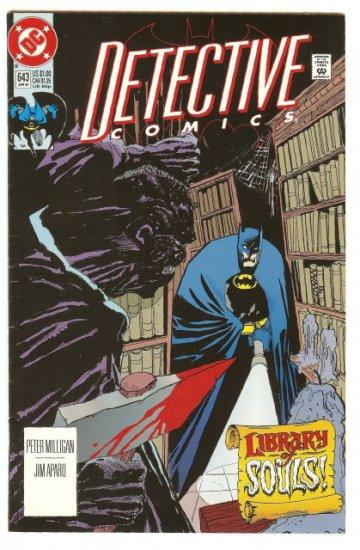 BATMAN ! DETECTIVE COMICS #643 APRIL 1992 NM CONDITION!
