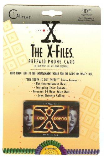 X-FILES $10 PREPAID PHONE CARD