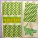 """Crocodile Rock""-Premade Scrapbook Page 12x12"
