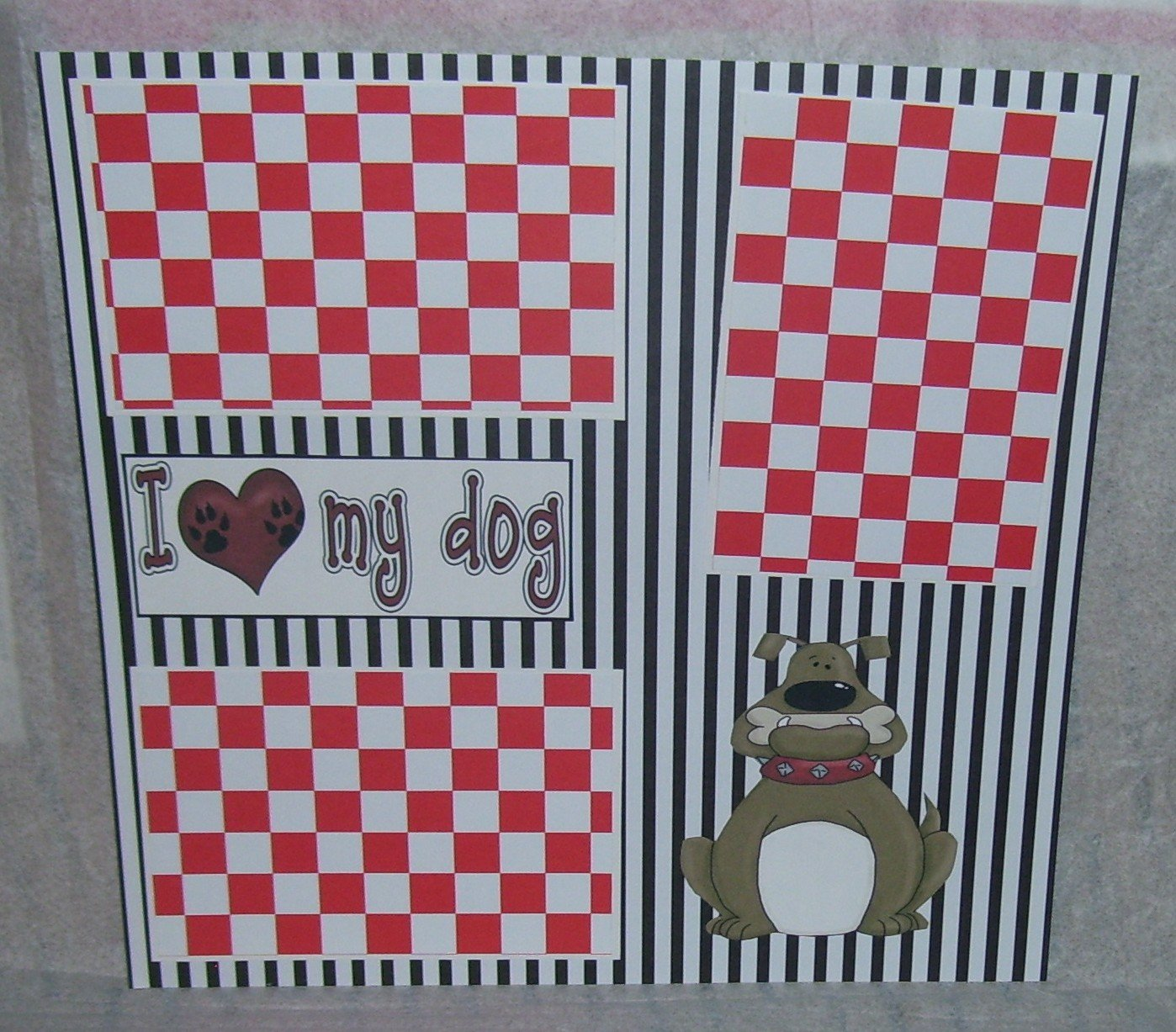 """I love My Dog""-Premade Scrapbook Page 12x12"