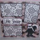 """Little Stinker tm standing""-Premade Scrapbook Page 12x12"