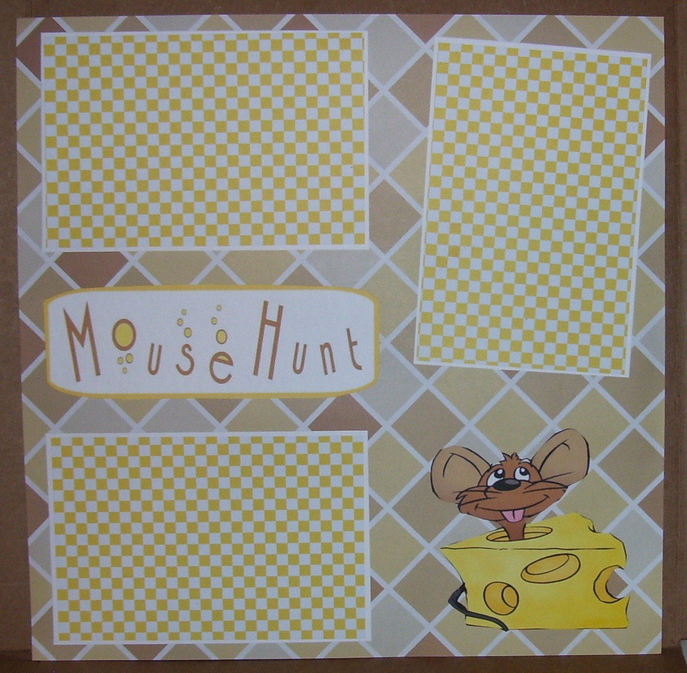 """Mousehunt""-Premade Scrapbook Page 12x12"