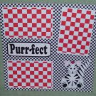 """Purr-fect""-Premade Scrapbook Page 12x12"