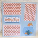 """""""Something Fishy""""-Premade Scrapbook Page 12x12"""