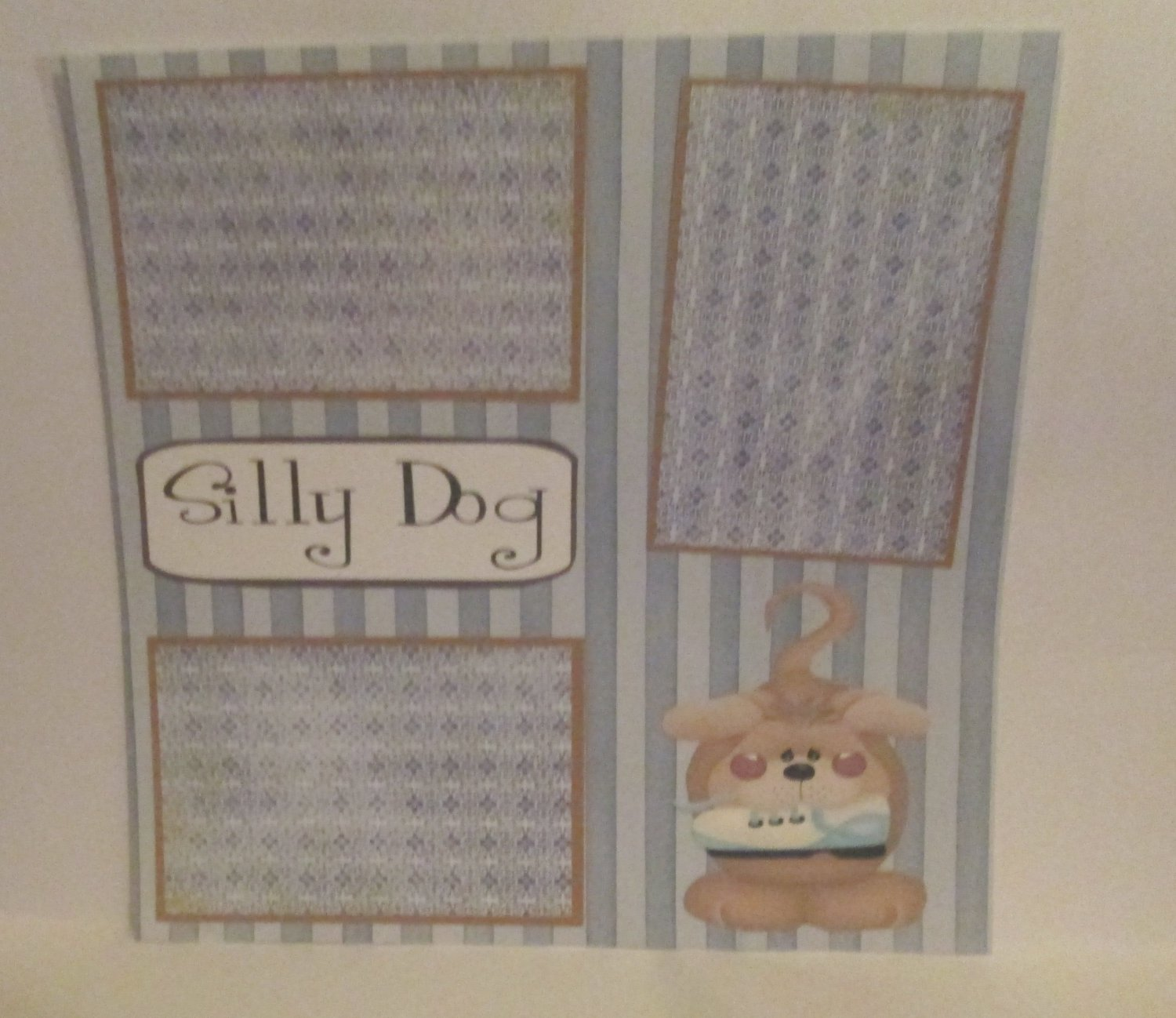 """Silly Dog""-Premade Scrapbook Page 12x12"