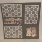 """""""Pawsitively Purrfect a""""-Premade Scrapbook Page 12x12"""