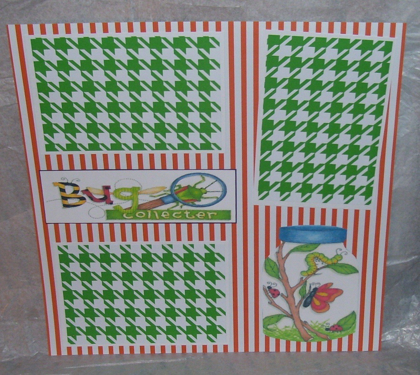 """""""Bug Collecter a""""-Premade Scrapbook Page 12x12"""