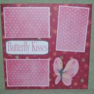 """""""Butterfly Kisses pink""""-Premade Scrapbook Page 12x12"""