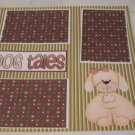 """Dog Tales tc""-Premade Scrapbook Page 12x12"