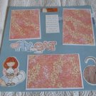 """""""Love My Cat mme 1""""-Premade Scrapbook Page 12x12"""