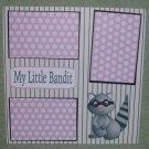 """My Little Bandit a""-Premade Scrapbook Page 12x12"