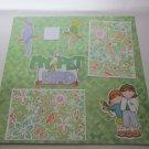 """""""My Pet Bird Boy & Girl mme""""-Premade Scrapbook Page 12x12"""