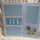 """Baby Boy Horse""-Premade Scrapbook Page 12x12"