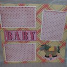 """""""Baby Girl Horse""""-Premade Scrapbook Page 12x12"""