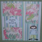 """""""Baby On Board Boy""""-Premade Scrapbook Page 12x12"""
