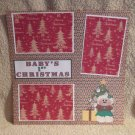"""""""Baby's 1st Christmas Lamb""""-Premade Scrapbook Page 12x12"""