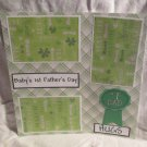 """Baby's 1st Father's Day""-Premade Scrapbook Page 12x12"