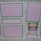 """Baby's 1st Food Girl""-Premade Scrapbook Page 12x12"