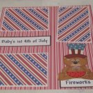 """Baby's 1st 4th of July Boy a""-Premade Scrapbook Page 12x12"
