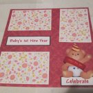 """""""Baby's 1st New Year""""-Premade Scrapbook Page 12x12"""