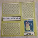 """Baby's 1st Mother's Day 2a""-Premade Scrapbook Page 12x12"