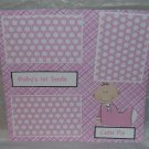 """""""Baby's 1st Present Girl""""-Premade Scrapbook Page 12x12"""