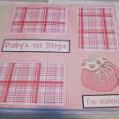 """Baby's 1st Steps Girl""-Premade Scrapbook Page 12x12"