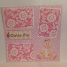 """Cutie Pie Girl""-Premade Scrapbook Page 12x12"
