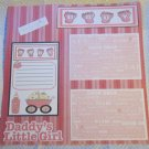 """Daddy's Little Girl 2a""-Premade Scrapbook Page 12x12"