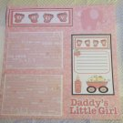 """Daddy's Little Girl 2b""-Premade Scrapbook Page 12x12"