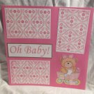"""""""Oh Baby Girl""""-Premade Scrapbook Page 12x12"""