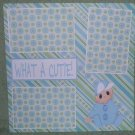 """What A Cutie Boy""-Premade Scrapbook Page 12x12"