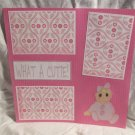 """""""What A Cutie Girl""""-Premade Scrapbook Page 12x12"""