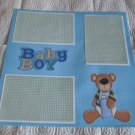 """Baby Boy Bear""-Premade Scrapbook Page 12x12"