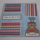 """Baby's 1st 4th of July Boy Bear a""-Premade Scrapbook Page 12x12"