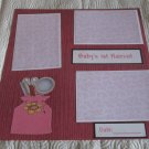 """Baby's 1st Haircut Girl""-Premade Scrapbook Page 12x12"