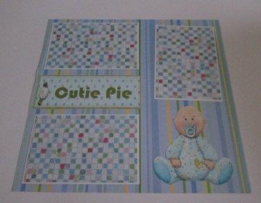 """Cutie Pie Boy""-Premade Scrapbook Page 12x12"