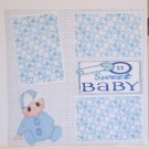 """Sweet Baby Boy a""-Premade Scrapbook Page 12x12"