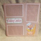 """Baking Cookies Gingerbread Rolling Pin""-Premade Scrapbook Page 12x12"