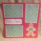 """Baking Cookies Gingerbread""-Premade Scrapbook Page 12x12"