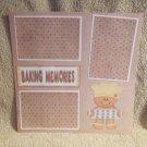 """Baking Memories js""-Premade Scrapbook Page 12x12"